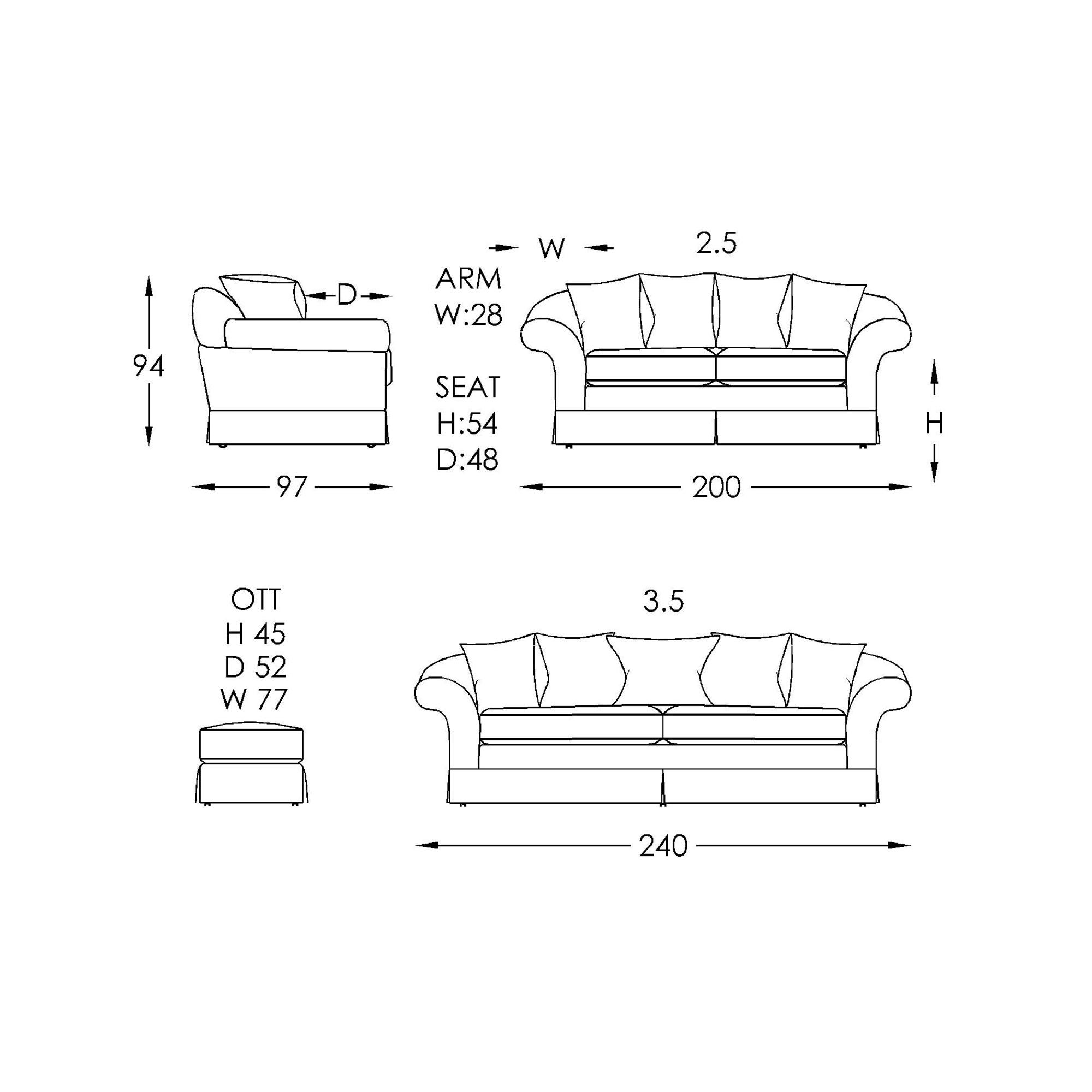 Moran Westwood Sofa Dimensions