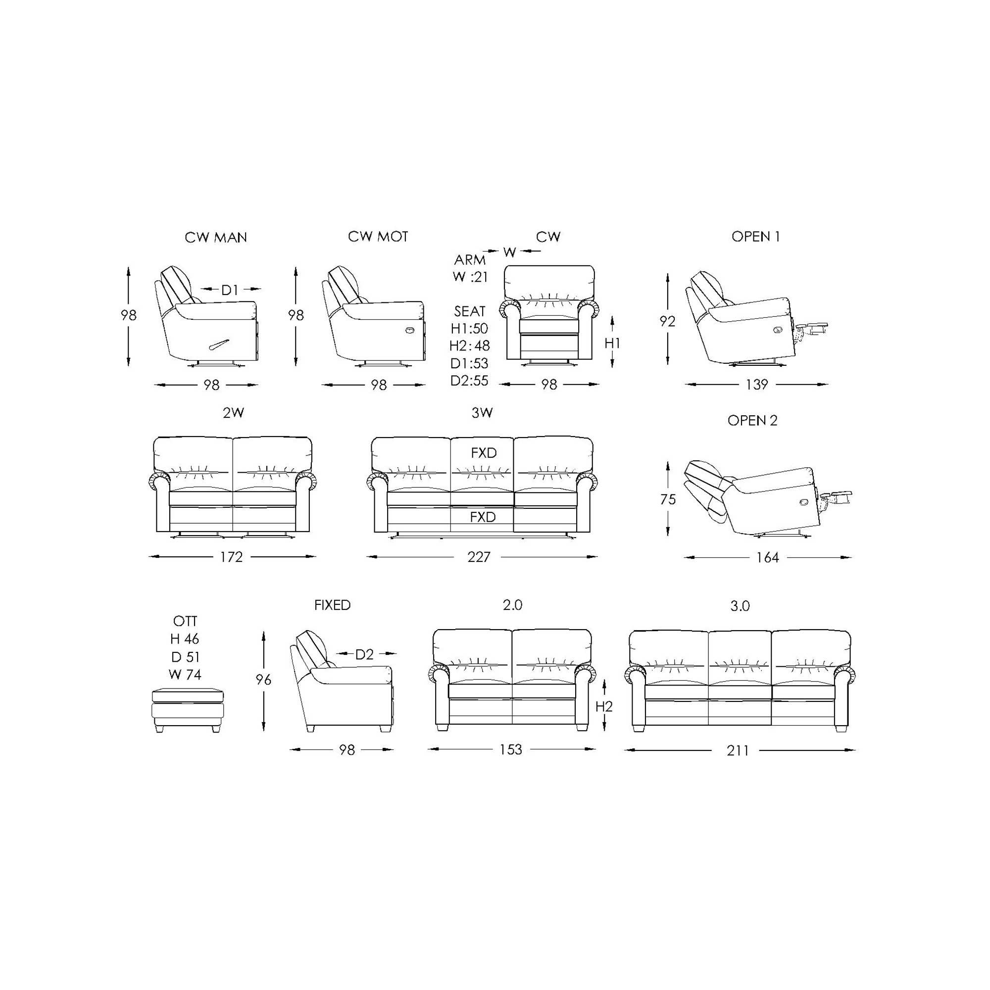Moran Benson Sofa Dimensions