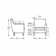 Moran Jimmy Chair Dimensions