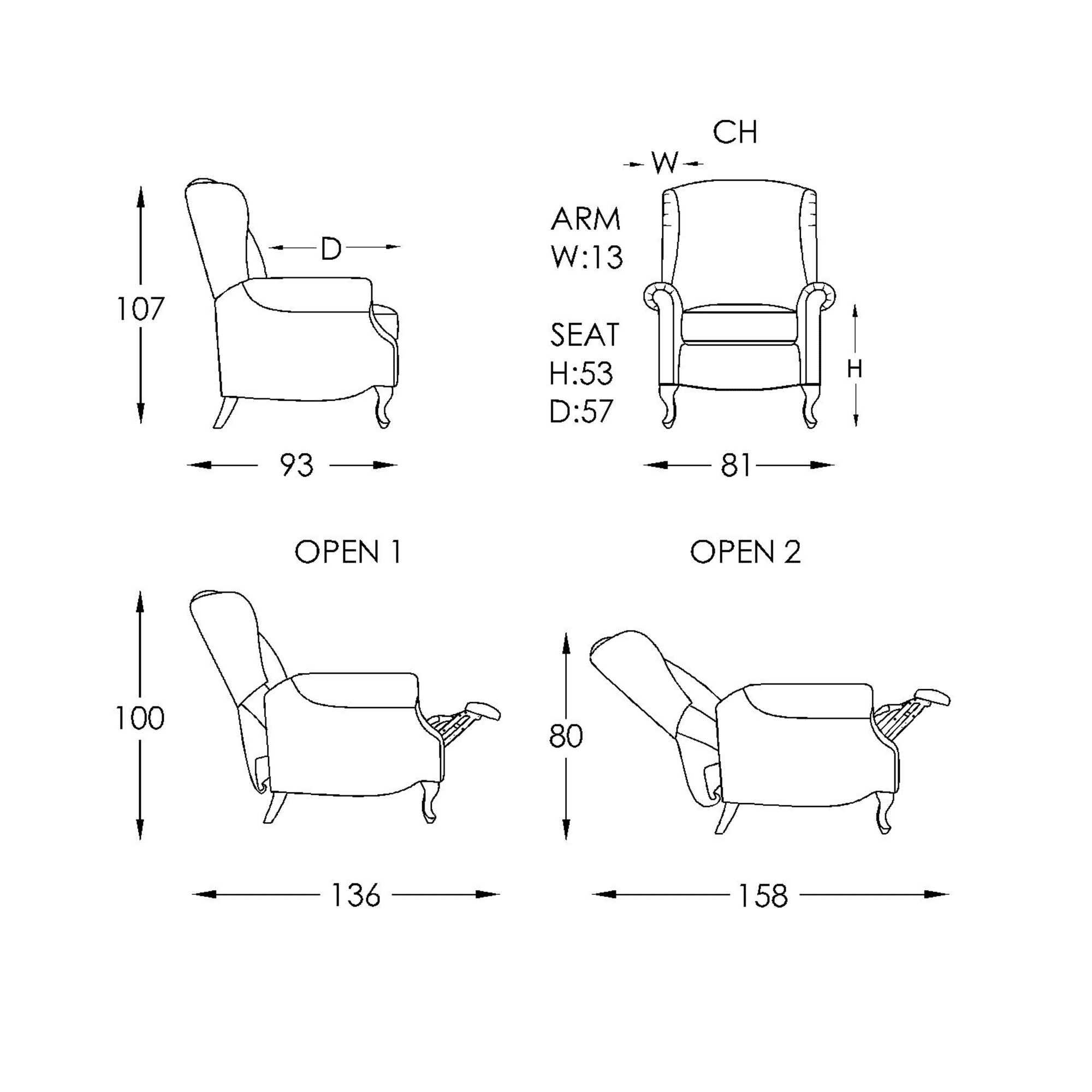 Abbey Chair Dimensions