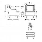 Moran Monet Chair Dimensions