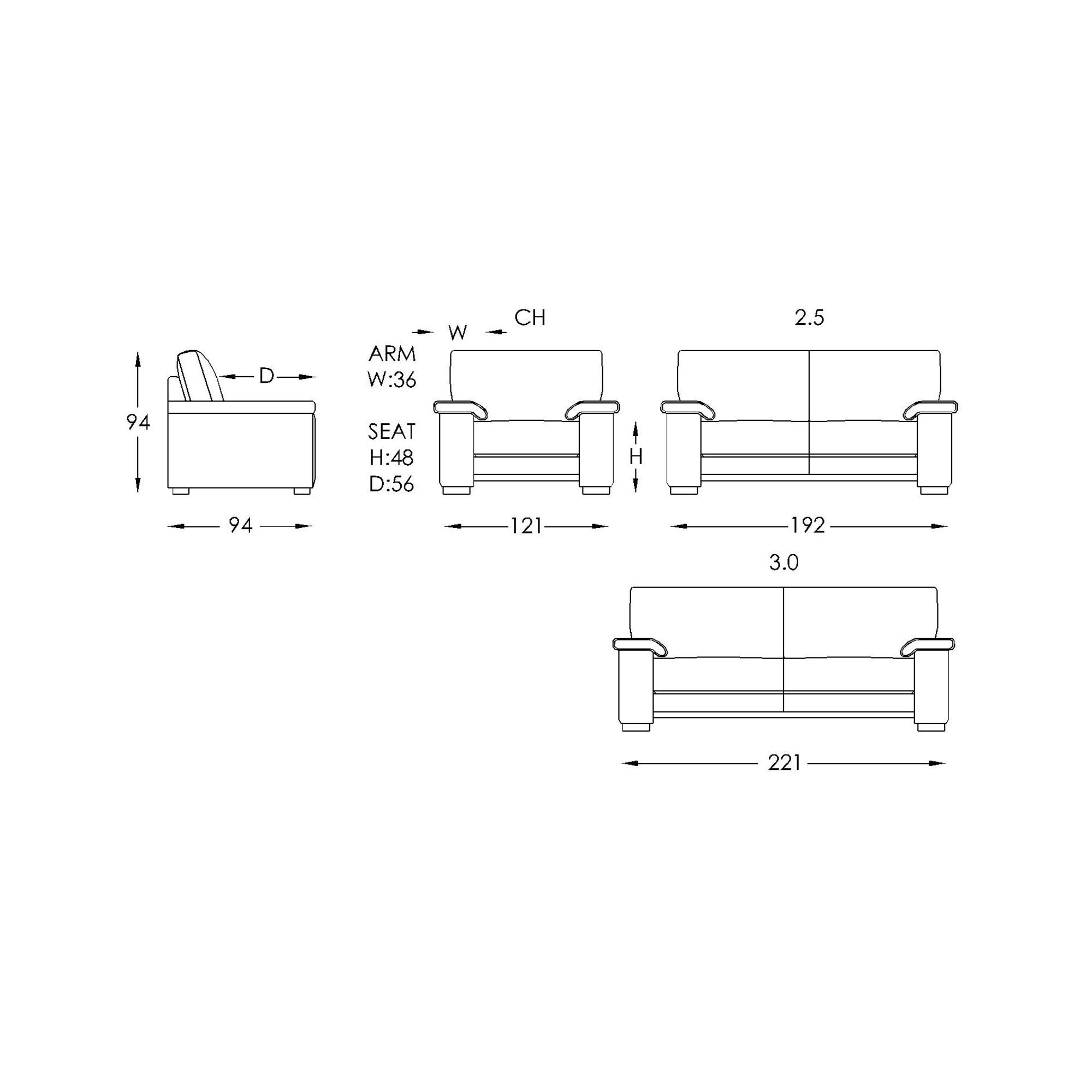 Moran Talia Sofa Dimensions