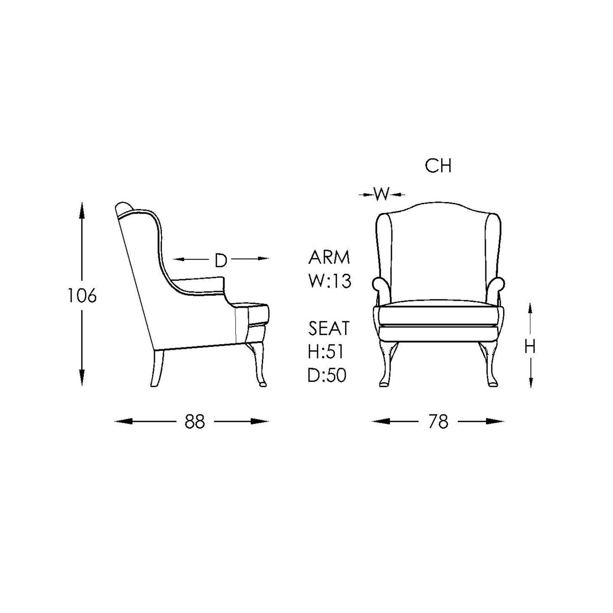 Boston Chair Line Drawing