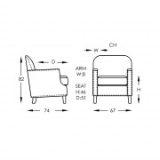 Professor Chair Line Drawing