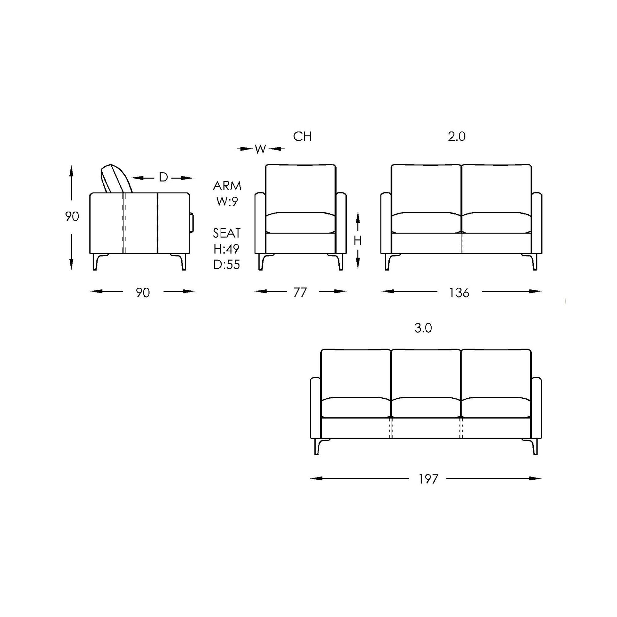 Moran Olsen Sofa Dimensions