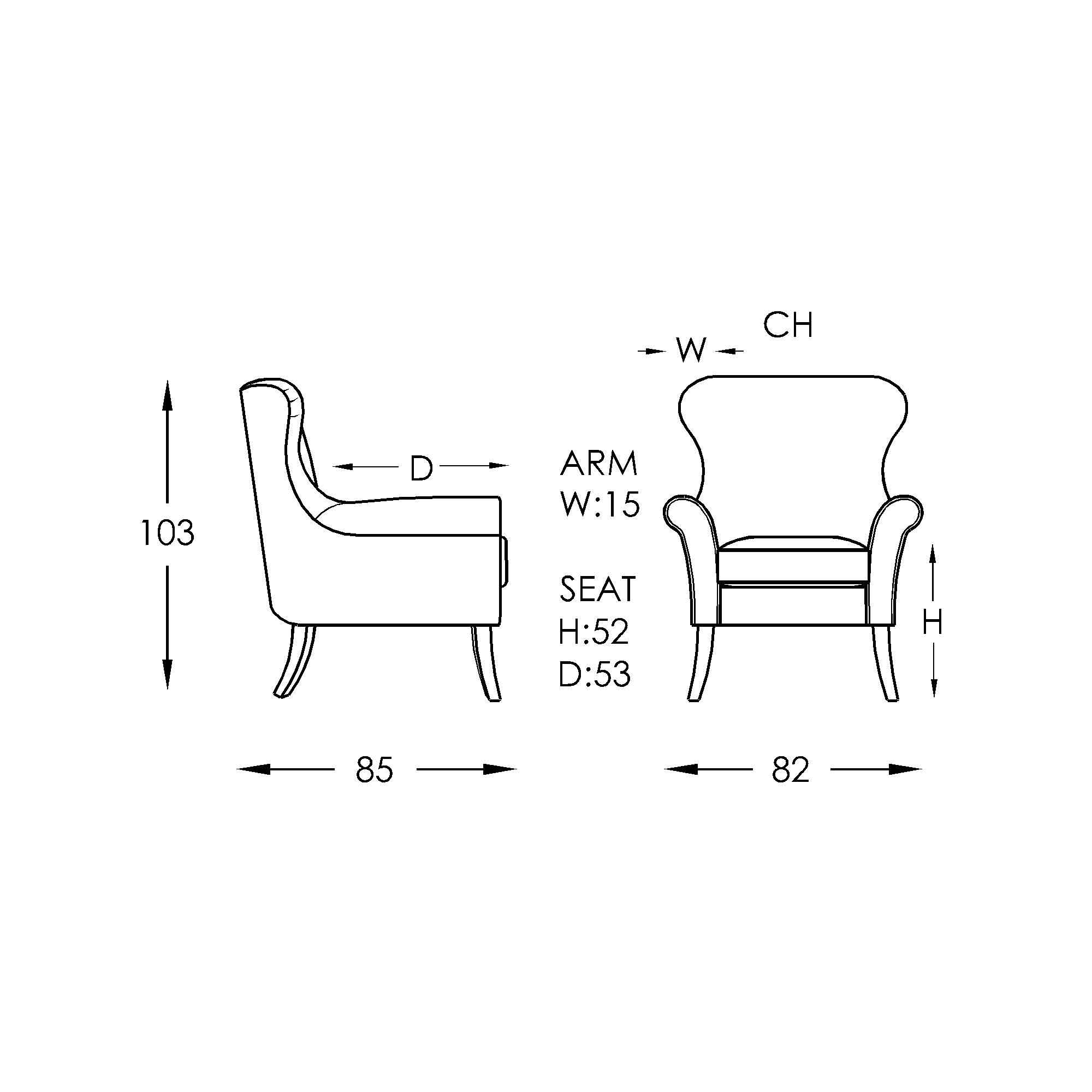 Moran Alberta Chair Dimensions