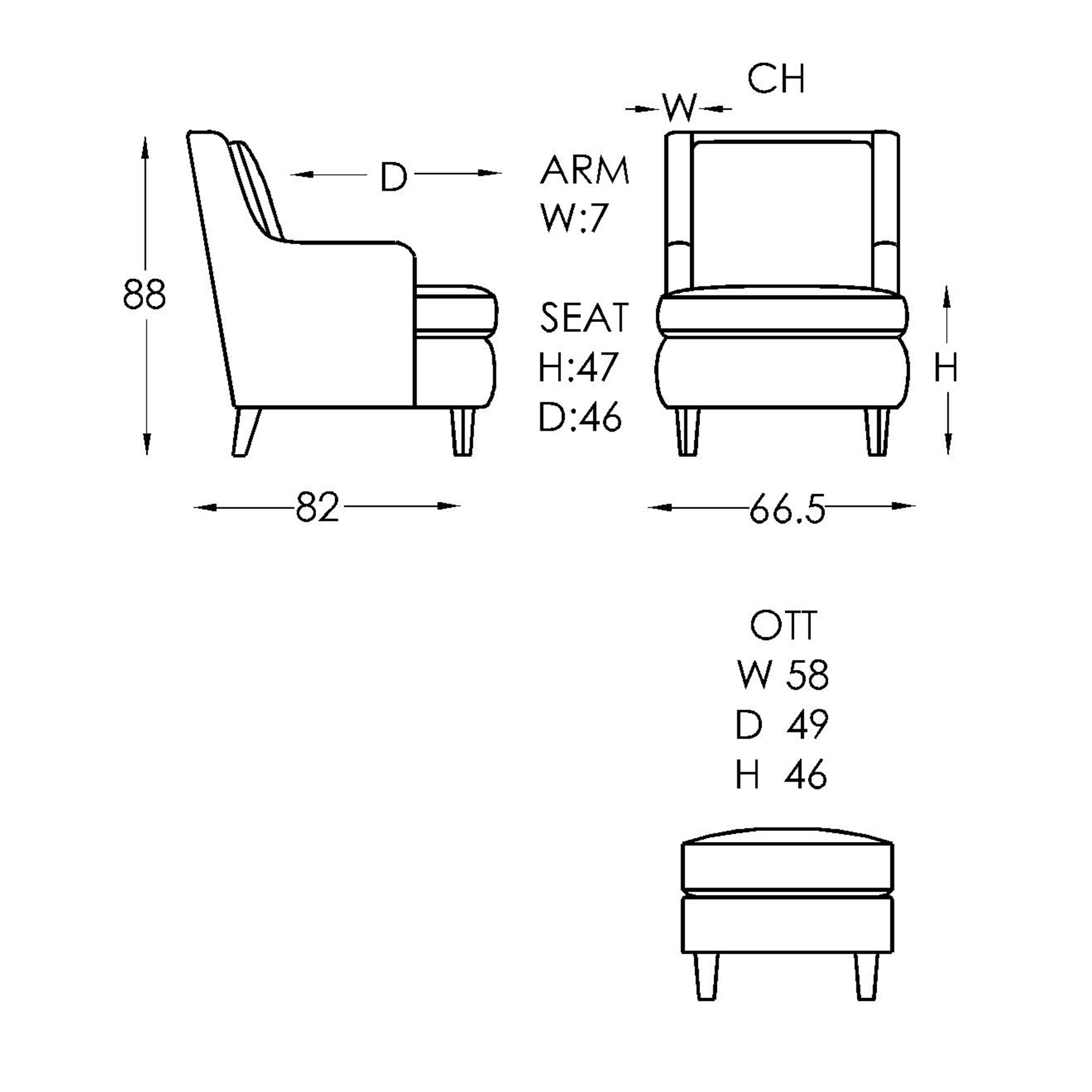 Moran Monet Chair Dimensions
